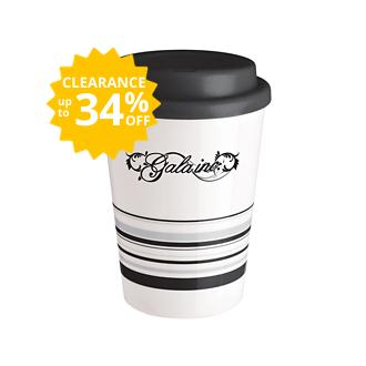 Customized Striped Coffee Cup Tumbler - 12 oz