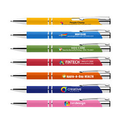 Customized Bright Soft Touch Paragon Pen - Full Colour Inkjet