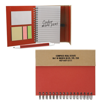 Customized Crafty Notebook with Sticky Notes and Pen