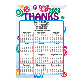Customized Jumbo Calendar Magnets