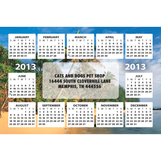Customized Calendar Magnet