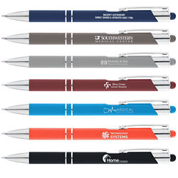 Customized Soft Touch Paragon Pen with Colour Stylus
