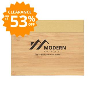 Customized Bamboo Sticky Notebook