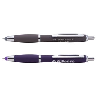 Customized Executive Soft Touch Riley Pen with Stylus Tip