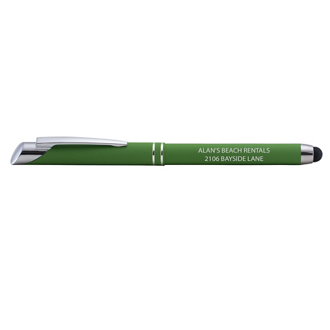 Customized Soft Touch Melrose Pen & Stylus Top