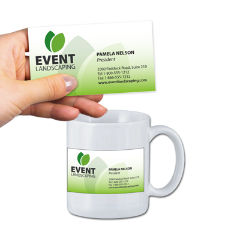 Customized Business Card Mug 11 oz