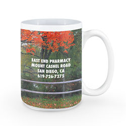 Customized Britebrand™ 15 oz. Adel White Ceramic Mug