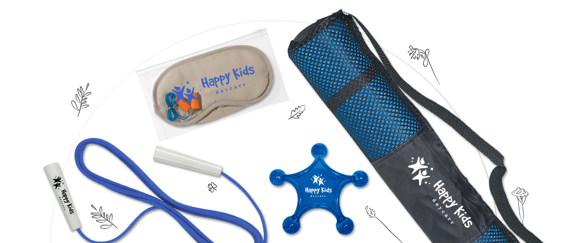 Custom Logo Gifts Hero of Personalized Yoga Mat, Massager, Jump Rope, Eye Mask