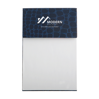 Customized Crocodile Notepad with White Imprint