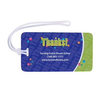 Customized Full Colour Luggage Tag