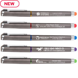 Customized Soft Touch Accent Gel Pen with Coloured Stylus