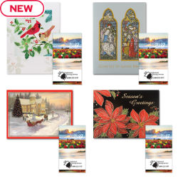 Customized Holiday Card with Monthly Pocket Planner