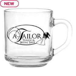 Customized 10 oz. Capri Glass Coffee Mug