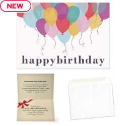 Customized Colourful Birthday Balloons Greeting Card