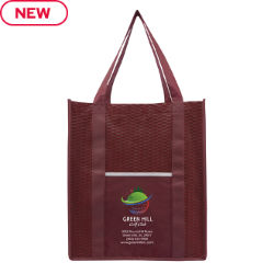 Customized Wave Patterned Large Shopping Tote Bag - Full Color Inkjet