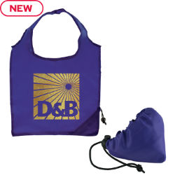 Customized Foldable Shopper Tote with Metallic Imprint