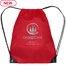 Customized Polyester Drawstring Bag with Metallic Imprint