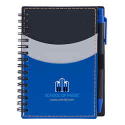 Customized Sleek Notebook with Pocket and Pen
