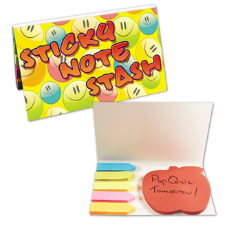 Customized Apple Sticky Notepad with Flags