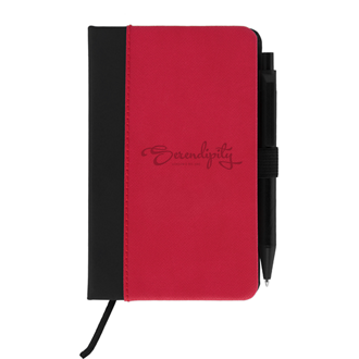 Customized Charon Notebook with 2-Tone Hard Cover and Pen