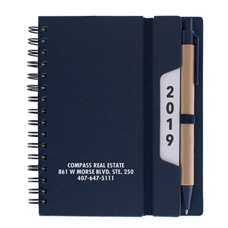 Customized Colored Spiral Notebook with Calendar