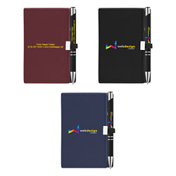 Customized Nifty Note Caddy and Soft Touch Pen - Full Colour