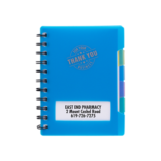 Customized Spiral Bound Notebook with Colored Dividers