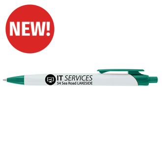 Customized Triangular Shaped Belltown Pen with Colored Trim
