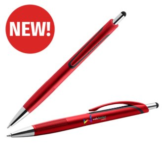 Customized Metallic Ryan Pen with Stylus Top