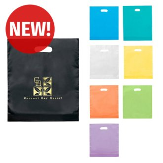 Customized Juno Frosted Plastic Bag - 15 x 18