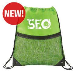 Customized Tech Print Nylon Drawstring Bag
