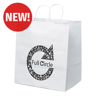 Customized White Brute Shopping Bag