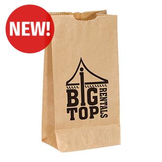 Customized Brown Popcorn Bag