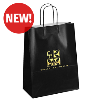 Customized Amber-Colored Shopping Bag