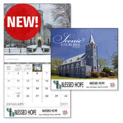 Customized Good Value™ Scenic Churches Calendar