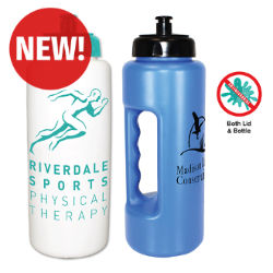 Customized 32 oz Antimicrobial Grip Bottle