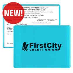 Customized Translucent Insurance Card Case