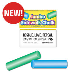 Customized Round Jumbo Sidewalk Chalk 2-Pack