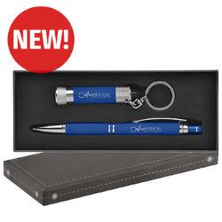 Customized Diamond Stylus Pen & Flashlight Gift Set
