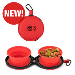 Customized 2-in-1 Collapsible Pet Bowls with Case