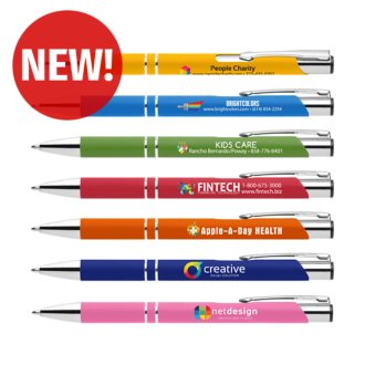 Customized Bright Soft Touch Paragon Pen - Full Color Inkjet