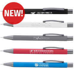 Customized Soft Touch Arlington Mechanical Pencil with Mirrored Imprint