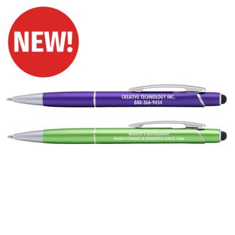 Customized Delta Metal Barrel Ballpoint Pen with Stylus