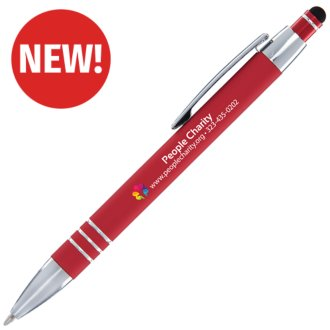 Customized Soft Touch Alina Pen with Stylus Top - Inkjet