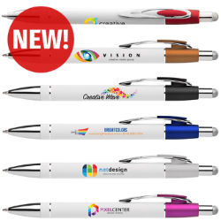 Customized Full Color Inkjet White Ellis Stylus Pen