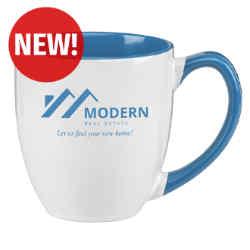 Customized 16 oz. Two-Tone Maren Ceramic Bistro Mug