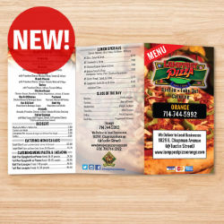 Customized 8.5''x11'' Full Color One-Sided Menu