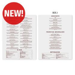 Customized 8.5''x14'' Two-Sided Menu