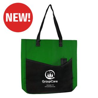 Customized Joyce Budget Tote Bag with Large Pocket & Pen Slot