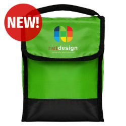 Customized Full Colour Inkjet Tera Foldable Lunch Bag with Front Pocket